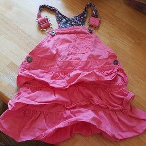 Pink overall skirt